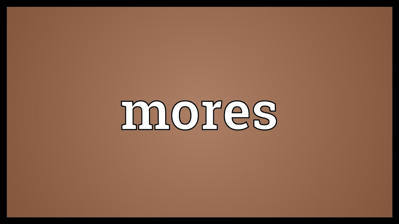 essay on mores definition types and nature of mores
