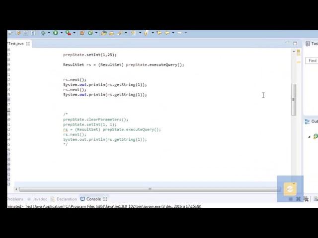 Java : JDBC 4 : Traitement des Requêtes SQL : L'Interface PreparedStatement