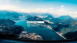 Cockpit View - CHALLENGING VISUAL Landing In LUGANO Airport