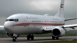 Dubai Air Wing Boeing 737BBJ A6-HEH at Cambridge Airport