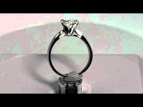 Heart Diamond Engagement Promise Ring 1 03 carat Solid Platinum