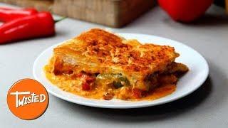 How To Make Chicken Fajita Slab Pie | Twisted