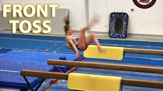 Front Toss on Balance Beam | Whitney Bjerken Gymnastics