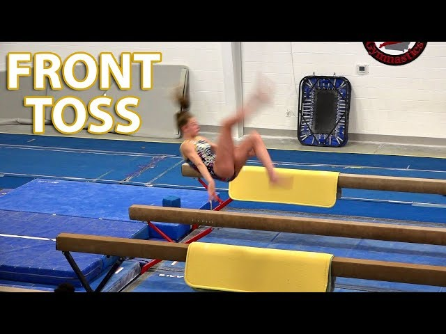 Front Toss on Balance Beam   Whitney Bjerken Gymnastics