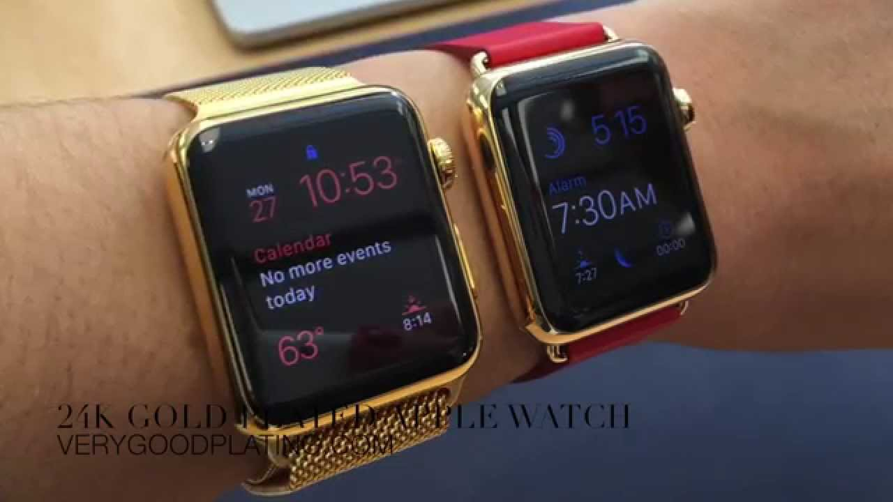 24k Gold Plated Stainless Vs 18k Apple Watch Edition Youtube
