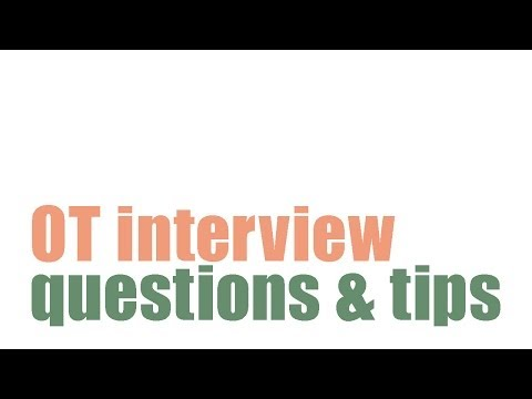 Occupational Therapy Interview Questions And Tips