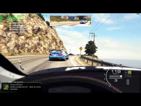 GRID Autosport PC Gameplay - Audi RS 5 / California Big Sur - Full HD 1080p60 - OSD/FPS