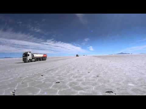 Driving on the biggest Salt Lake on earth