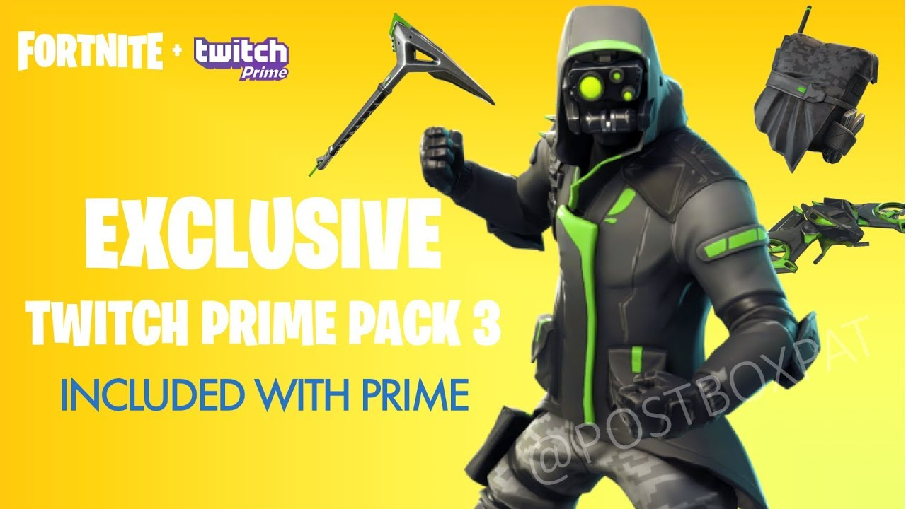 new fortnite twitch prime pack 3 leaked fortnite battle royale twitch skins 3 all items - fortnite twitch prime pack 3 leak