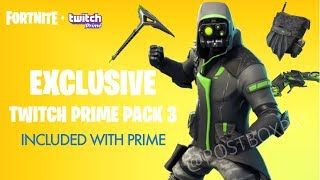 *NEW* Fortnite Twitch Prime PACK #3 LEAKED! (Fortnite Battle Royale Twitch Skins 3 - ALL ITEMS!)