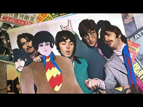 ♫ The Beatles with Yellow Submarine animated likeness at TVC Studios, 1967