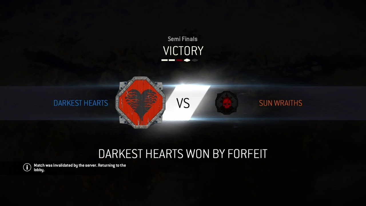 matchmaking has failed for honor