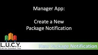 Manager - Create a Package Notification