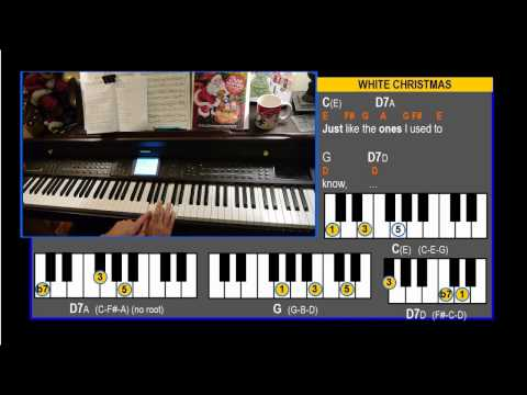 White Christmas Chord Style Piano Lesson