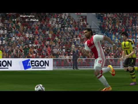 AFC Ajax 1 - 2 Borussia Dortmund - Highlights - Master League - PES 6: Firebird 16/17