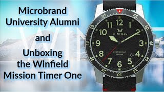 Unboxing the Windfield Mission Timer One & Microbrand University Alumni Brands