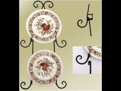 Decorative Wrought Iron Wall Plate Racks and Cup Racks - YouTube