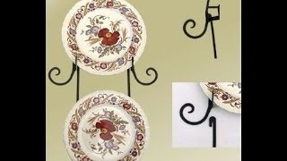 Decorative Wrought Iron Wall Plate Racks and Cup Racks