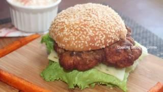 KFC স্টাইলে স্পাইসি জিঙ্গার বারগার    KFC Zinger Burger Recipe Bangla    Bangladeshi Burger Recipe