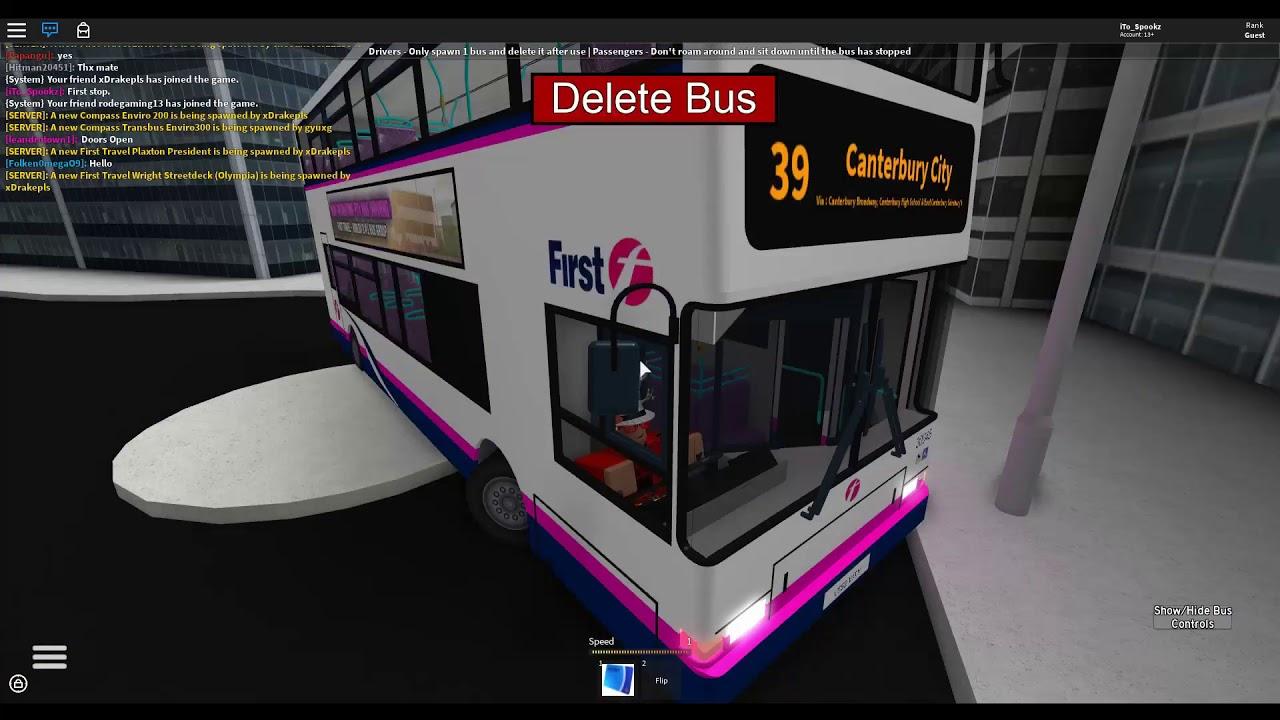 Roblox Canterbury District Bus Simulator Double Decker Bus