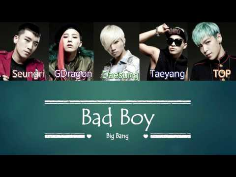 Big Bang - Bad Boy | Sub (Han - Rom - English) Color Coded Lyrics