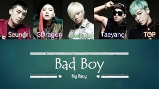 Big Bang - Bad Boy | Sub (Han - Rom - English) Color Coded Lyrics