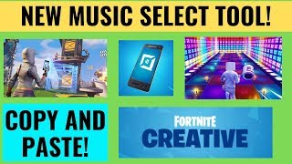 How to use the NEW Music Select Tool in Fortnite Creative!!