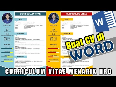 Cara Buat CV Lamaran Kerja Di Word 2007