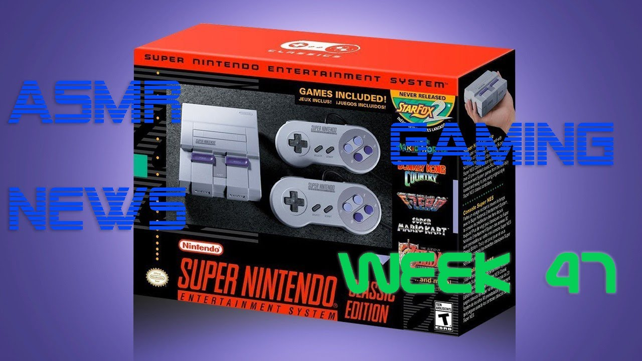 ASMR Gaming News (Week 47) SNES Classic Mini, PS5, Nintendo, Crash Trilogy, Elite Dangerous + More!