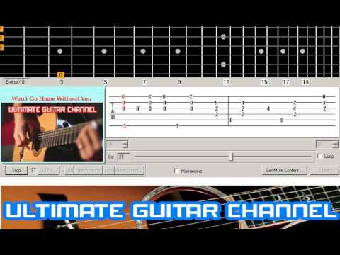 Guitar Solo Tab Wont Go Home Without You Maroon 5 Youtube