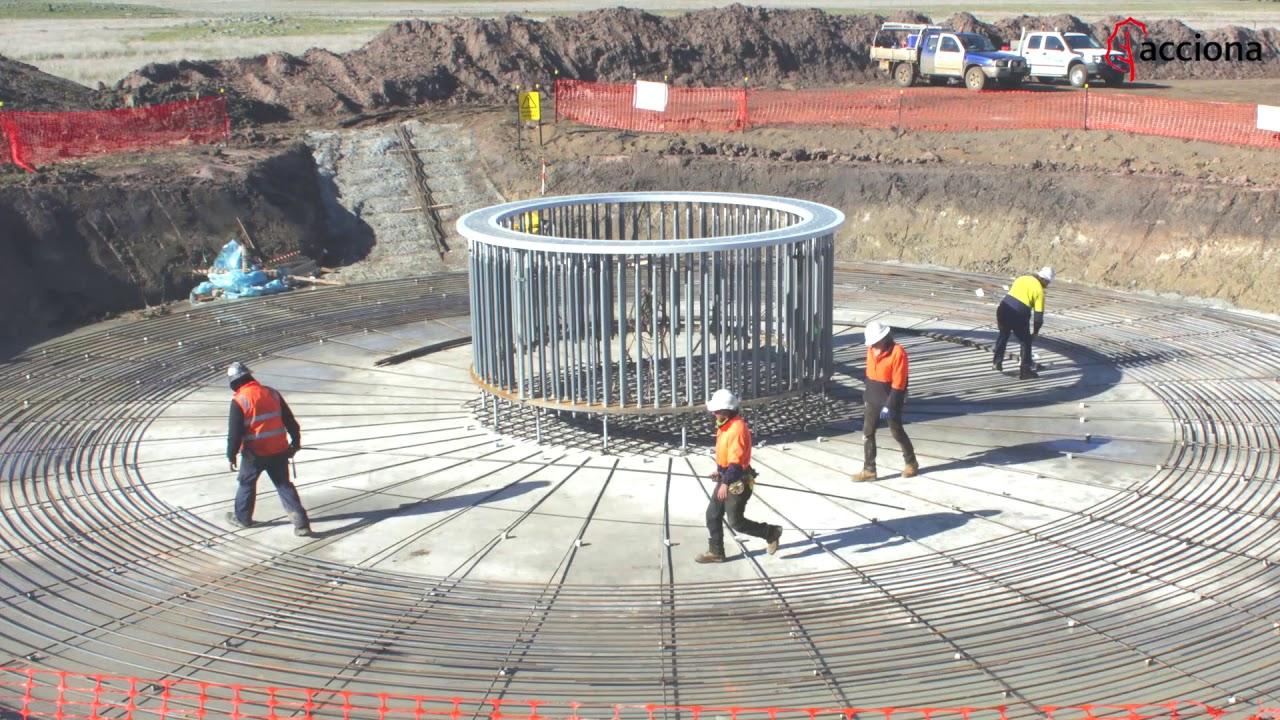 Foundation works at Mt Gellibrand Wind Farm, Australia   ACCIONA