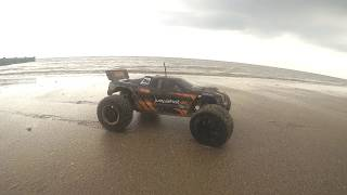 RC HPI JUMPSHOT ST Monster Truck 4x4 Drifting GoPRO Hero 5 HD Awesome Beach Action