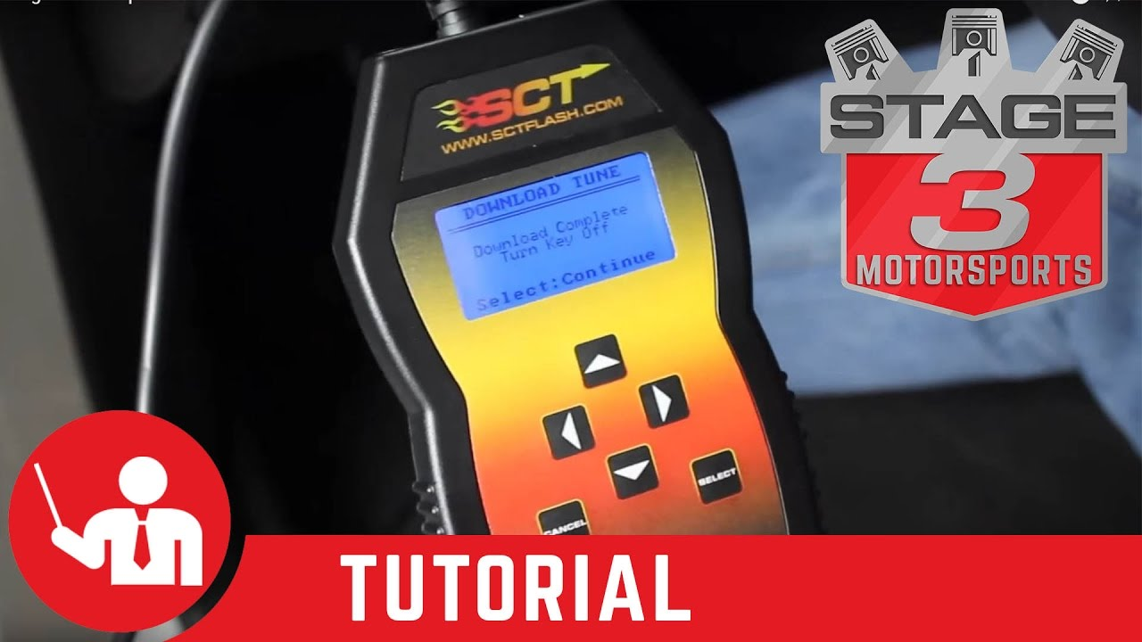 How to load a Stage 3 Motorsports custom tune on SCT 3000 or SCT 3015