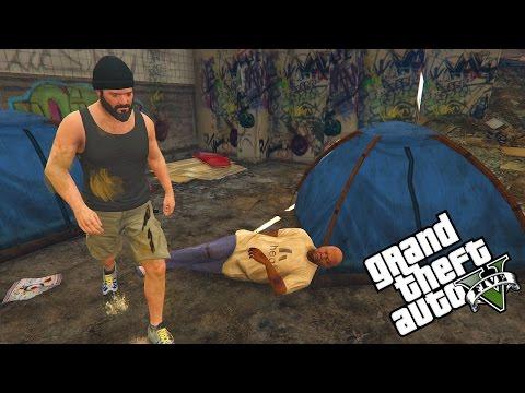GTA 5: REAL LIFE MOD! #1 OBDACHLOS der START von ganz UNTEN!