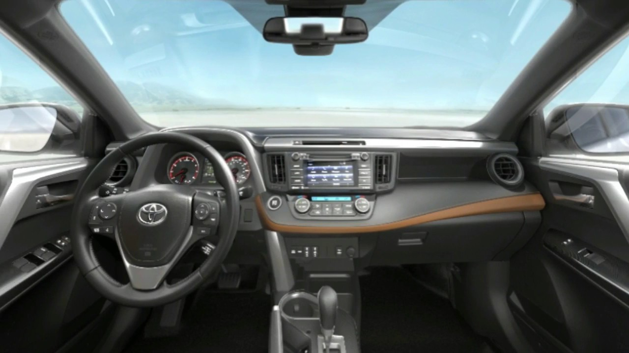 2017 toyota rav4 interior review youtube. Black Bedroom Furniture Sets. Home Design Ideas