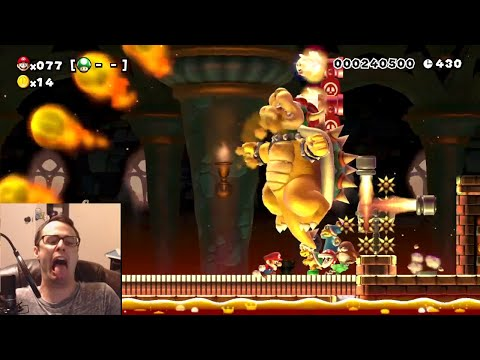 Mario Maker - Bowsers Are Red, But Mario's Blue | Super Expert Is A Pile of Poo #11