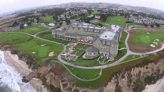 Flying above the Ritz Carlton in Half Moon Bay