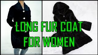 Long Coat For Girls   Long Winter Fur Coat Making Professional Style - Tailoring With Usha