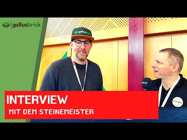 Der Steinemeister war bei mir an der SteinCHenwelt 2021   Das Interview