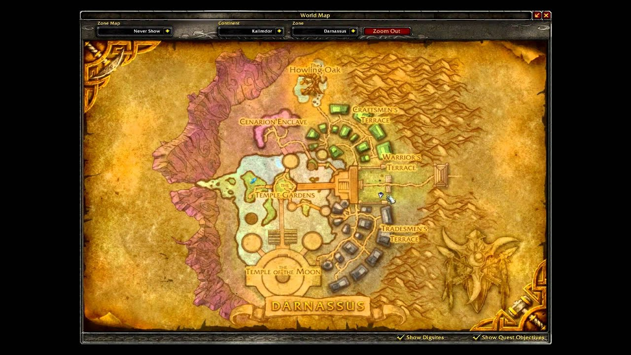 World of Warcraft Darnassus Companion Guide - YouTube