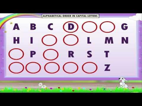 Learn Grade 1 - English grammar - Alphabetical Order