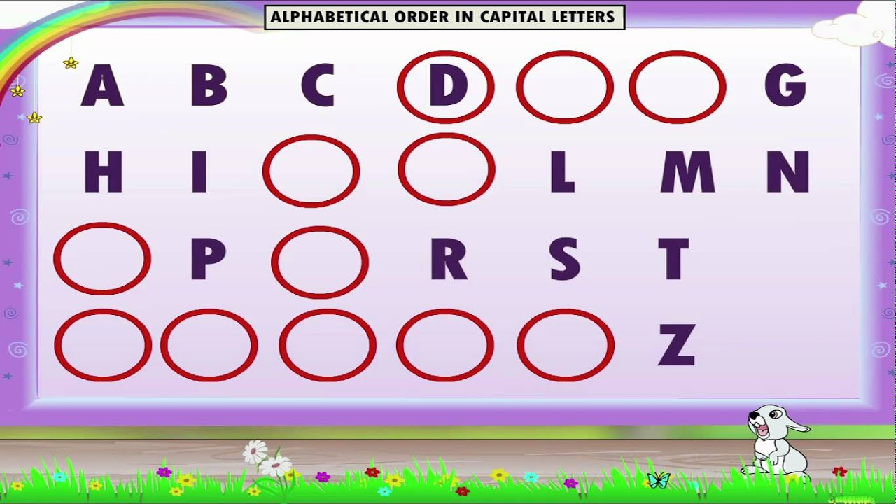 small resolution of Learn Grade 1 - English grammar - Alphabetical Order - YouTube