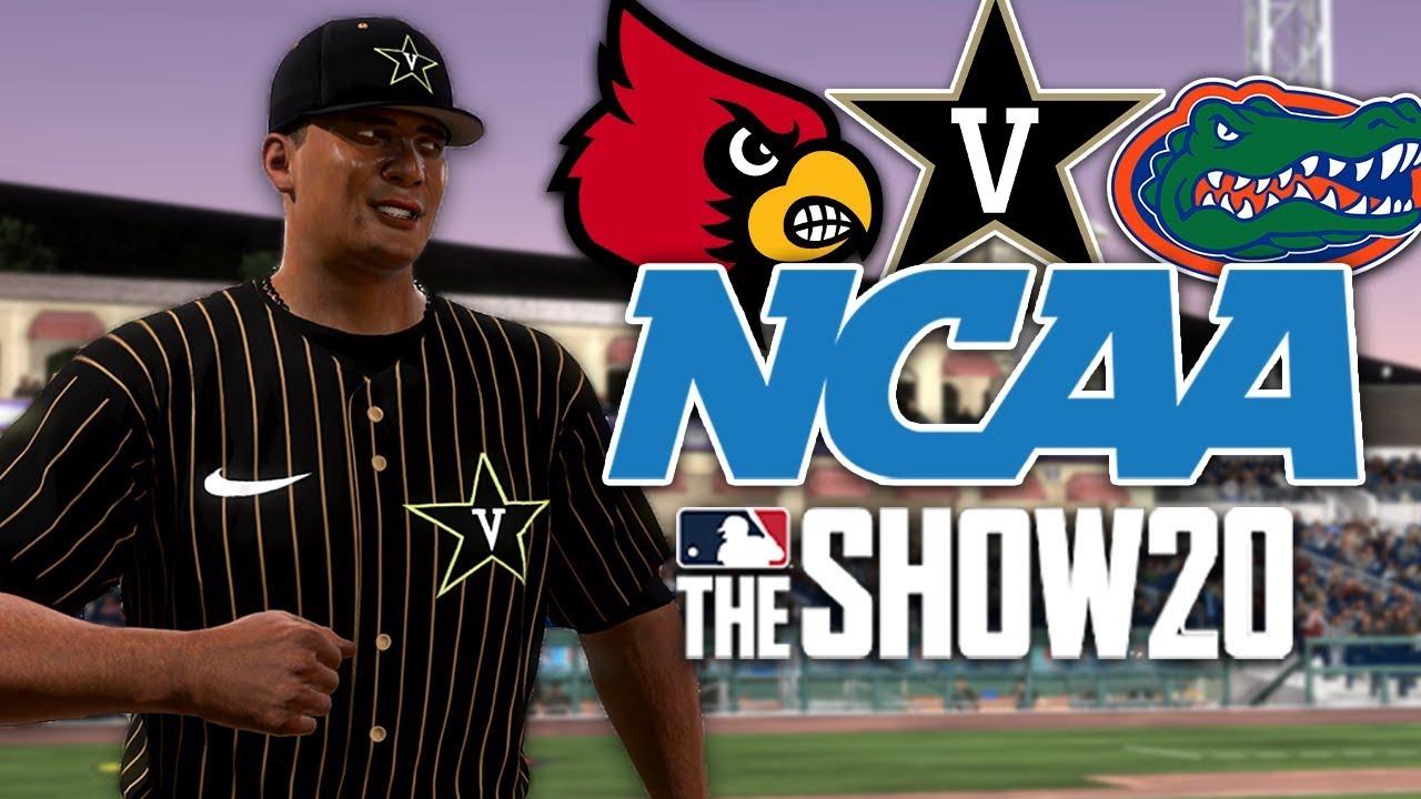NCAA BASEBALL MOD ON MLB THE SHOW 20!!