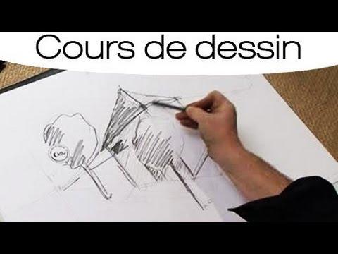 Cours de dessin dessiner un b timent en perspective youtube - Comment dessiner une tresse ...