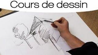 Cours de dessin : dessiner un bâtiment en perspective