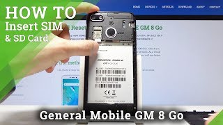 How to Install Nano SIM & Micro SD Card in GENERAL MOBILE GM 8 Go