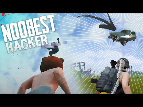 NOOBEST HACKER OF ALL TIME || HACKER CAME TO MEET US IN FLYING CAR  PUBG MOBILE HIGHLIGHTS