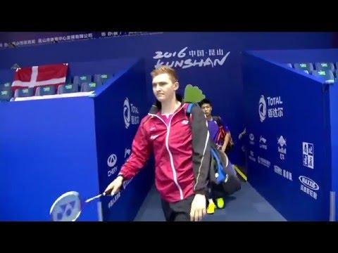 TOTAL BWF Thomas & Uber Cup Finals 2016 | Badminton Day 4/S1-Thomas Cup Grp D- DEN vs TPE