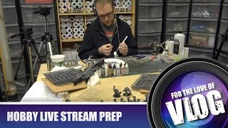 Setting Up For Live Hobby Night Streaming