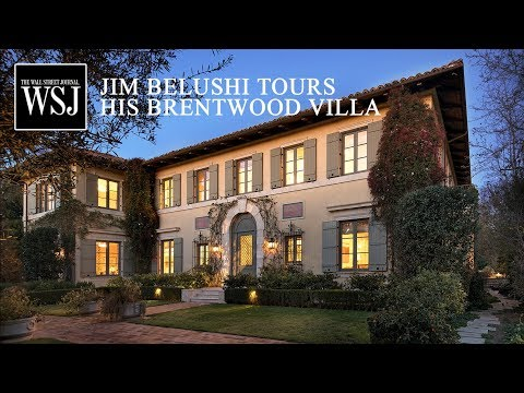 Jim Belushi Tours His Brentwood Villa for the Wall Street Journal